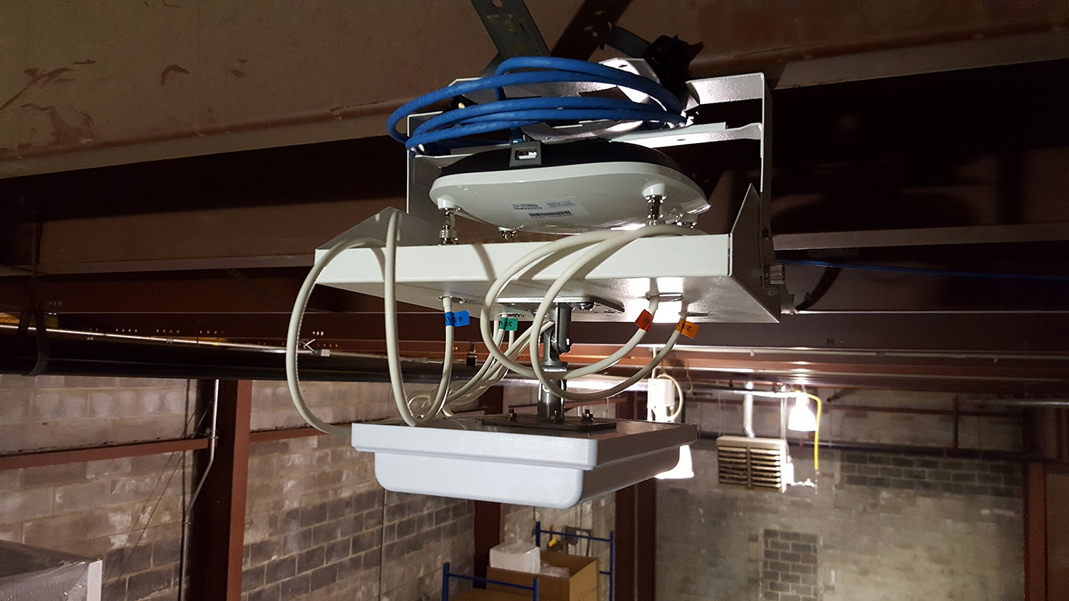 adding a wifi router to ceiling area